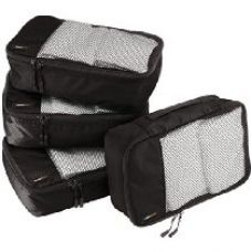 AmazonBasics Packing Cubes - Small, Black (4-Piece Set) for Rs. 949