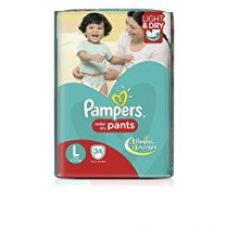 Pampers Large Size Diaper Pants (34 Count) for Rs. 499