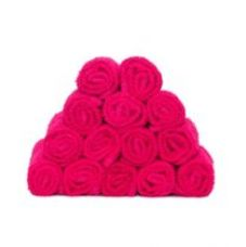 Buy Skumars Love Touch Knitted Face Towel Set - Pack of 14 - DARK PINK from Amazon