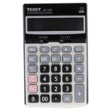 Texet 12-Digit Desktop Calculator ,Solar & Battery Powered , Angular Display (Black:Silver) for Rs. 179