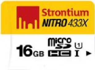 Strontium Nitro 16GB 65MB/s Class 10 UHS-1 microSDHC Card (SRN16GTFU1R) for Rs. 475