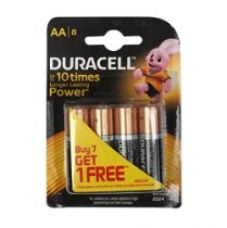Buy Duracell Alkaline AA Battery with Duralock Technology - 8 Pieces from Amazon