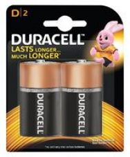 Duracell Alkaline D Batteries - Pack Of 2