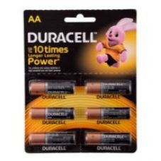 Buy Duracell Alkaline AA Battery with Duralock Technology - 6 Pieces from Amazon
