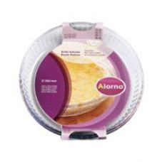 Buy Alorno Borosilicate Glass, Fluted Dish, Dia 260mm for Rs. 249