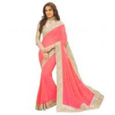 Buy leeps New Attractive And Charming Georgette Saree with Blouse ( Color Available) for Rs. 349