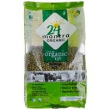 Buy 24 Mantra Organic Green Moong Whole, 500g from Amazon