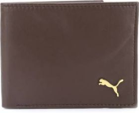 Flat 79% off on Puma Men Brown Genuine Leather Wallet  (4 Card Slots)