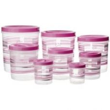 Princeware Twister Plastic Package Container Set, 8-Pieces, Pink for Rs. 541