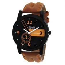 Flat 82% off on Cavalli Casual Analogue Tan Leather Strap Multicolour Dial Men's Watch Cw-333