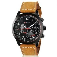 Curren Temperature Black Dial Brown Analog Watch for Rs. 129