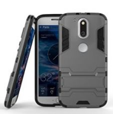 Buy Chevron Back Cover Case for Moto G Plus 4th Gen (Grey) [Military Grade Version 2.0 With Kick Stand Hybrid Back Cover Case] from Amazon
