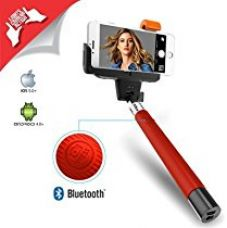 XTRA Selfie Stick, Extendable Bluetooth Monopod with Built-in Shutter & Adjustable Phone Holder for iPhone 7/7+ /Se/6s/6/6 Plus, Samsung Galaxy S7/S6/Edge, Note 5/4, LG G5, Moto X/G & Android Phones for Rs. 4,675