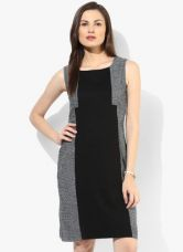 Buy W Black Colored Printed Shift Dress from Jabong