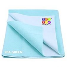 Bey Bee - Quick Dry Baby Bed Protector Waterproof Sheet (Medium ( 100cm X 70cm), Sea Blue) for Rs. 310