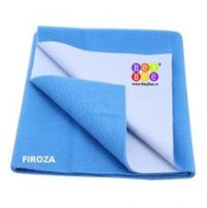 Bey Bee - Quick Dry Baby Bed Protector Waterproof Sheet (Firoza) {Medium} {Size: 100cm X 70cm} for Rs. 315