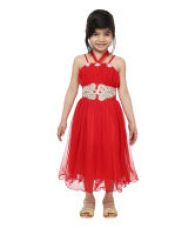 Buy Tiny Toon Red Synthetic Party Wear Dress from SnapDeal