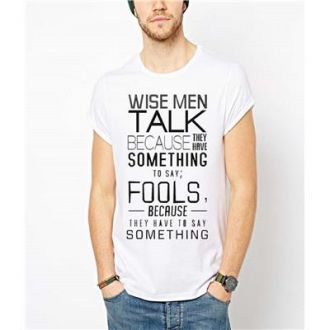 Flat 75% off on Indian Royals white printed Men's Round Neck T-Shirt