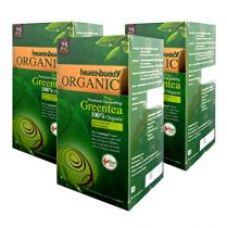 Healthbuddy 100% Organic Green Tea - 3 packs of 25 tea bags each (3.00) for Rs. 299