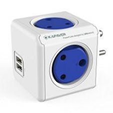 KAPAVER PowerCube Spike Guard Wall Adapter with 4 (India Socket) Outlet 5V 2.1A Dual USB Mobile Tablet iPhone iPad Charger (KP-PC4USB) (this is not a powerbank) for Rs. 899