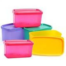 Tupperware Cool Square Half, Set of 5 for Rs. 780