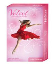 Buy Velvet Women/Female Condom 3 Pieces Pack of 5 for Rs. 435