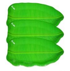 Buy Hua You 11 inch Banana Leaf Shape South Indian Dinner Lunch Serving Melamine Platter Plate For All Occasions - 3 Pcs from Amazon
