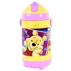 Buy Disney Pooh Plastic Sipper Bottle, 320ml, Yellow/Violet from Amazon