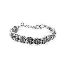 Buy Valentine Gifts: Dare By Voylla Alloy With Oxidized Silver Plated Bracelet For Men, Boyfriend & Husband from Amazon