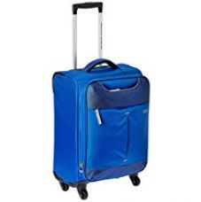 Buy American Tourister Sky Polyester 55Cms Blue Soft Sided Suitcase (25R (1) 31 001) from Amazon