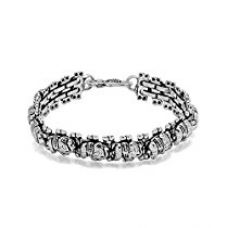 Valentine Gifts: Dare By Voylla Alloy With Oxidized Silver Plated Bracelet For Men, Boyfriend & Husband for Rs. 278