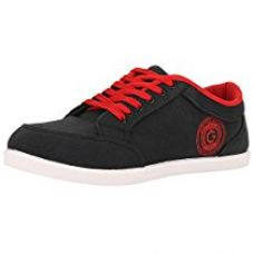 Globalite Men's Black Red Canvas Canvas Shoes-UK 6 (GSC0311) for Rs. 399