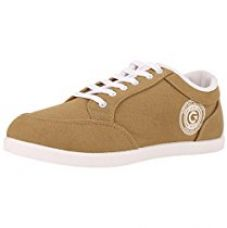 Buy Globalite Men's Beige White PU canvas shoes -UK 7 (GSC0433) from Amazon