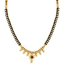 Buy The Luxor Gold Plated Alloy With Pearls Mangalsutra Necklace For Women from Amazon