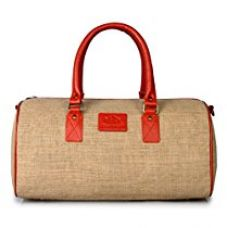 Buy The Clownfish Earth Series Royal Orange 18 inch Jute Travel Duffle / Luggage Weekender Bag, Luggage Bags,Cabin Bags,Duffle Bags, Travel Bag for Day Trip With Inner Pocket from Amazon
