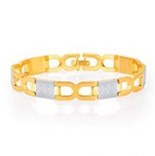 Sukkhi Brilliant Gold And Rhodium Plated Bracelet for Men for Rs. 579