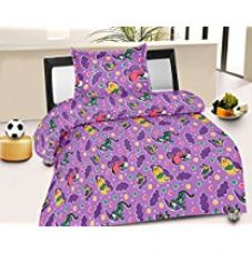 Buy Jiya Decor 100% Cotton Single Bed Sheet With 1 Pillow Cover- S-CK1045 from Amazon