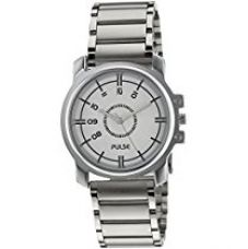 Buy Pulse Analog White Dial Men's Watch - PL0704 from Amazon