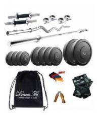 Flat 53% off on Dreamfit 35 Kg Home Gym Combo