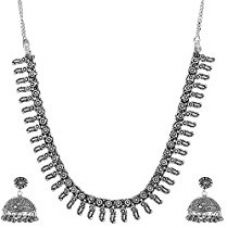 Ganapathy Gems Metal Jhumki and Necklace Combo For Women (GPJC11) GPJC11 for Rs. 599