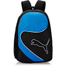 Puma Black and Blue Polypropylene Casual Backpack (7213502) for Rs. 851