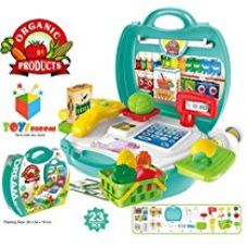 Toys Bhoomi Kids Bring Along Organic Products Shopping Suitcase Set - 23 Pieces for Rs. 899