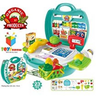 Toys Bhoomi Kids Bring Along Organic Products Shopping Suitcase Set - 23 Pieces for Rs. 599