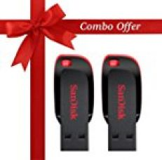 SanDisk Cruzer Blade 16GB USB 2.0 Pen Drive (Pack of 2) for Rs. 999
