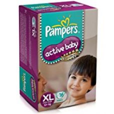 Pampers Active Baby Extra Large Size Diapers (16 Count) for Rs. 342