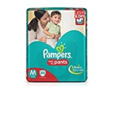 Pampers Medium Size Diaper Pants (80 Count) for Rs. 999