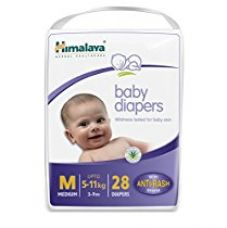 Buy Himalaya Baby Medium Size Diapers (28 count) from Amazon