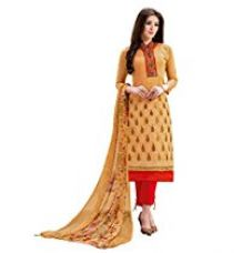 Buy Women's Chanderi Cotton Salwar Suit Dress Material with dupatta By Brand Manvaa from Amazon