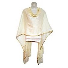 Buy Skhoza off-white art silk lycra dupatta for women from Amazon