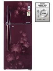 LG 258 L GL-D292JSFL Double Door Frost Free Refrigerator, scarlet florid for Rs. 26,699